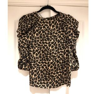 Zara animal print top